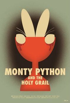 """Monty Python And The Holy Grail"" © by Brandon Schaefer What can I say. Monty Python were legends back in the & I think they still are. No one has ever been able to do comedy sketches, or films, quite like them. Monty Python, Love Movie, I Movie, Plakat Design, The Rocky Horror Picture Show, Movies And Tv Shows, Movies Showing, Jasper Johns, Minimal Movie Posters"
