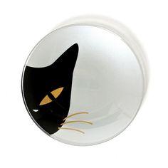 """Cat Eye Plate White by Kaoru Shibata for Jewel Japan"" (quote) via fab.com"
