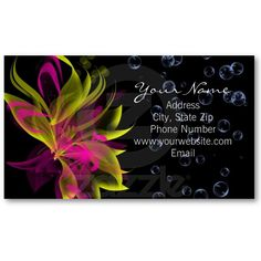 Lilies N' Bubbles Business Card