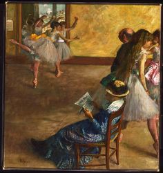 Edgar Degas, 'The Ballet Class,' about 1860, The National Gallery, London
