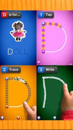LetterSchool Lite by Sanoma Media Netherlands B.V.: Makes learning handwriting fun! #App #Handwriting