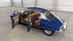 citroen ds 23 - 1974 - old and restored version 3d model obj blend mtl 2