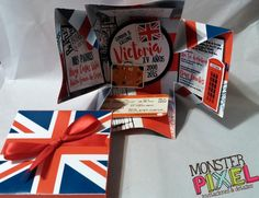 Invitaciones caja xv fiesta tematica inglaterra london