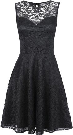 Black & Lace Bridesmaid dress