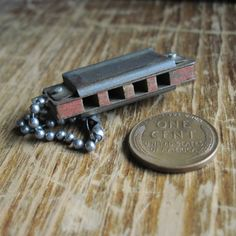 Tiny Antique Miniature Toy Harmonica