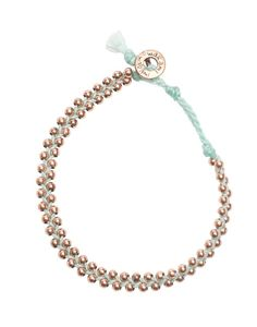 braided beaded mint and rose gold - the little market