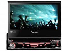 DVD Automotivo Pioneer AVH-3880DVD Tela 7 - Retrátil Touch 92 Watts RMS Entradas Câmera de Ré