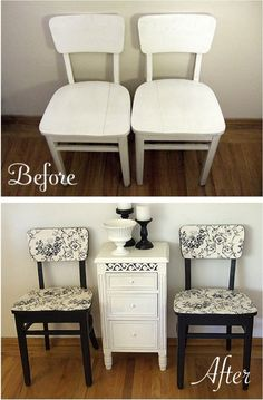 Reclaim Old Dining Room Chairs - got the chairs, just need to find the inspirational fabric/paper...