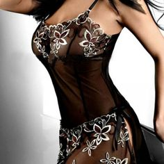 Embroided BabyDoll Black