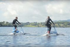 This a video demonstration of Manta5's upcoming Hydrofoiler XE-1, a hydrofoil bike you can ride on water. The bike has a 400-watt electric motor to amplify pedaling so you can glide across a lake, river or ocean with ease.... #boatonlakerivers