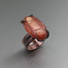New! Sunstone Copper Tree Branch Ring  Highlighted on #Etsy #7thAnniversary #trendy https://www.ilovecopperjewelry.com/29-25-ct-sunstone-copper-tree-branch-ring.html