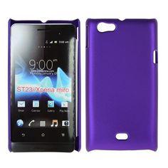 Hard Shell (Lilla) Sony Xperia Miro Deksel Galaxy Phone, Samsung Galaxy, Sony Xperia, Shell, Shells