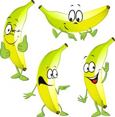 Cartoon banana characters vector material