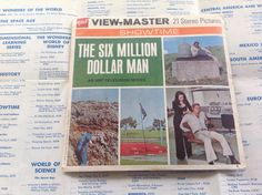 Six Million Dollar Man view master reels by Booth86 on Etsy