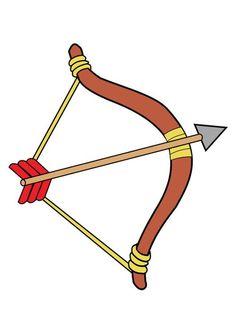 Imagen arco y flecha. Ilustración - Imágenes para escuelas y educación. Img 26404