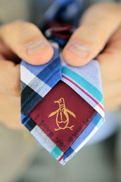 penguin wedding tie @cleverwedding                                                                                                                                                      More