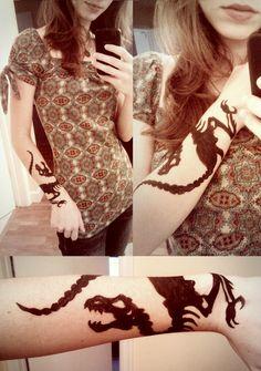 Tattoo of the day: Dinosaur Bones by starbuxx on DeviantArt