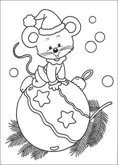 Printable coloring pages of Christmas mouse – Printable Coloring Pages For Kids Make your world more colorful with free printable coloring pages from italks. Our free coloring pages for adults and kids. Free Christmas Coloring Pages, Coloring Book Pages, Printable Coloring Pages, Christmas Colors, Christmas Art, Christmas Patterns, Christmas Balls, Christmas Decorations, Mouse Color