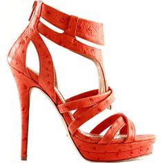 Orange Jerome C. Rousseau leather platform sandal