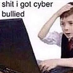 Shit i got cyber « bullied - iFunny :) Stupid Funny Memes, Haha Funny, Reaction Pictures, Funny Pictures, Dank Pictures, Funny Images, Memes Gretchen, Response Memes, Current Mood Meme