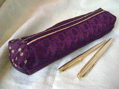 Pencil case, Pen pouch, Makeup bag, Silk door AnnemiekeA op Etsy