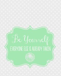 Be Yourself Prints at Sweet Rose Studio