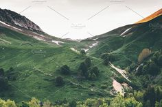 #Mountains green valley #Landscape  by e v e r s t on @creativemarket