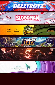 Youtube Design, Youtube Banner Design, Youtube Banner Template, Youtube Banners, Sports Graphic Design, Graphic Design Posters, Typography Design, Branding Design, Logo Design
