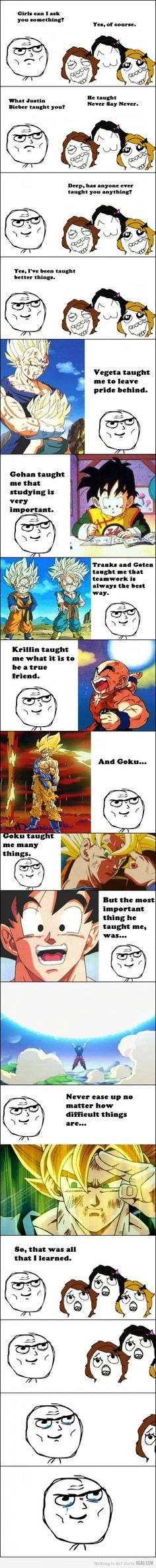 Life Lessons of Dragon Ball Z - so cheesy, but still so awesome.