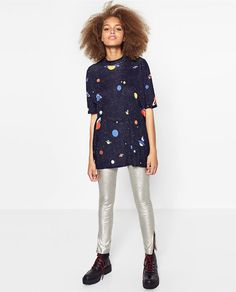 Image 1 of PRINTED OVERSIZE T-SHIRT from Zara