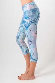 """The SUP Yoga Capri has an ultra comfortable fit with a wide supportive waist band and """"not too low"""" waist line. #yoga #yogacapris #capris #workout #activewear"""