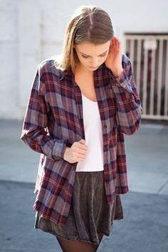 Maroon flannel