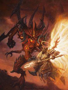 Diablo VS. Imperius Comic Art