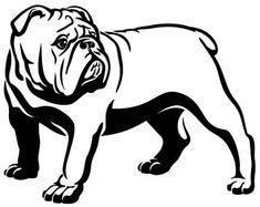 Droll English Bulldog Black And White Clipart Toy Bulldog, American Bulldog Puppies, Bulldog Mascot, American Bulldogs, Powerpoint Clip Art, Bulldogge Tattoo, Bulldog Clipart, Dog Signs, Pet Puppy