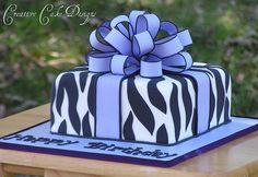 Lilac Zebra Cake