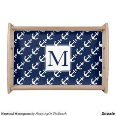 Nautical Monogram Food Trays