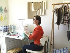 great work space / sewing space
