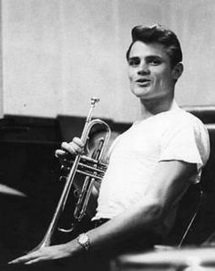 People who wear a white tee well no.7: Chet Baker. Filmstar good looks, recognisable horn style, satin-y smooth singing voice, excellent taste in clothes and a huuuuge appetite for heroin.