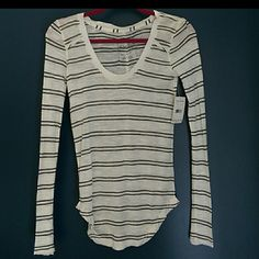 NWT Free People Striped Shirt Brand new long sleeve shirt! Perfect for fall and winter! Brand new and in perfect condition. Final Price! Free People Tops Tees - Long Sleeve