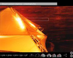 Struttura effimera multimediale itinerante Origamistand. Patented process. Schema degli elementi componenti la versione bar effimero. Si basa su un principio di equilibrio elastico anzi che statico. Questo permette di ottenere grandi resistenze a colpi di vento e terreni non piani.