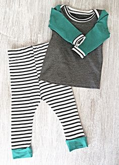 Yes please!  Modern Baby Boy Green Gray & Striped Organic 0-3 Month Outfit by LilRhinos on Etsy https://www.etsy.com/listing/243161417/modern-baby-boy-green-gray-striped