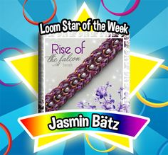 This design will most certainly get anyone's attention. It got ours. The colors are bold and beautiful! The use of beads anchor the design and give the bracelet an attractive distinction. The Falcon soars in our eyes. Congratulations to Jasmin Bätz for being our loom star of the week! Loom on! #FBLoomStaroftheWeek #FBLoomStar