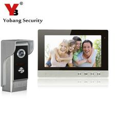 YobangSecurity 10 Inch LCD Video Doorbell Door Phone Entry Intercom Camera Monitor Security System Kit with 1 Camera 1 Monitor #Affiliate