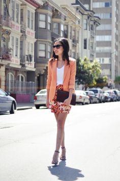 ~ orange blazer <3 ~