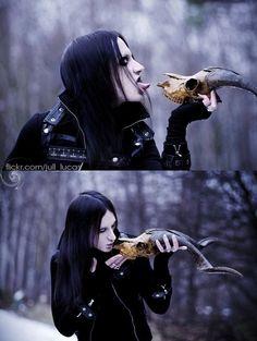 goth man, dark, skull