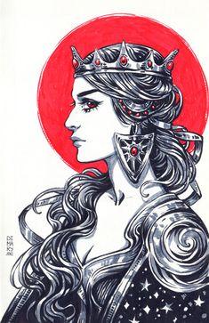 Inktober: Week 1, Maria Dimova on ArtStation at https://www.artstation.com/artwork/Ol116