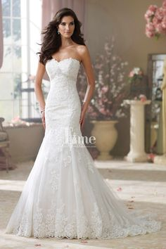Sweetheart Appliques Mermaid Wedding Dresses/Bridal Gowns WD148245:I WOULD WEAR THIS DRESS