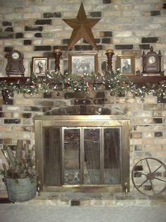 A Primitive Place ~ Primitive & Colonial Inspired Fireplace Displays