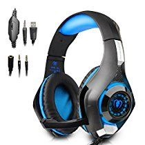 54%off -Beexcellent Gaming Headset with Mic Blue  $16.99
