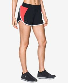 Under Armour Launch Tulip Shorts In Black/marathon Red Short Outfits, Marathon, New Look, Under Armour, Gym Shorts Womens, Product Launch, Clothes For Women, Chic